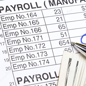 image of a payroll ledger